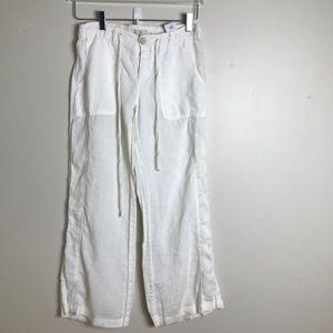 Joie White Linen Pant size 2 2186
